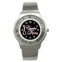 Carpe Diem  Stainless Steel Watch by Valentinaart