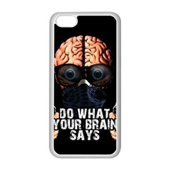 Do What Your Brain Says Apple Iphone 5c Seamless Case (white) by Valentinaart