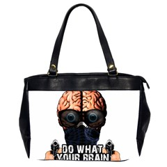 Do What Your Brain Says Office Handbags (2 Sides)  by Valentinaart