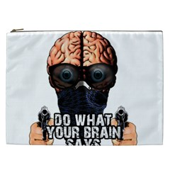 Do What Your Brain Says Cosmetic Bag (xxl)  by Valentinaart