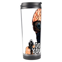 Do What Your Brain Says Travel Tumbler by Valentinaart