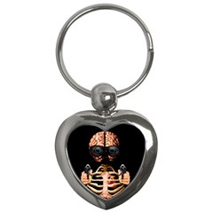 Do What Your Brain Says Key Chains (heart)  by Valentinaart