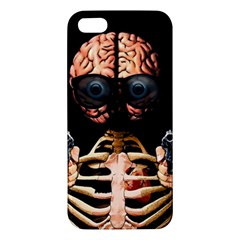 Do What Your Brain Says Apple Iphone 5 Premium Hardshell Case by Valentinaart