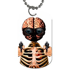 Do What Your Brain Says Dog Tag (one Side) by Valentinaart