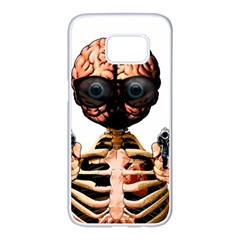 Do What Your Brain Says Samsung Galaxy S7 Edge White Seamless Case