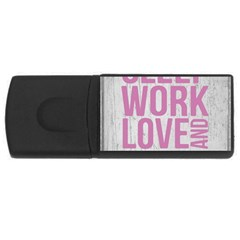 Grunge Style Motivational Quote Poster Rectangular Usb Flash Drive by dflcprints