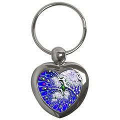 Fractal Fantasy 717c Key Chains (heart)  by Fractalworld