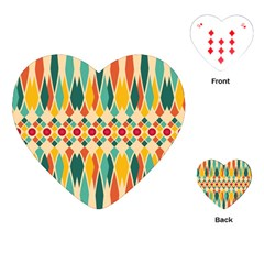 Festive Pattern Playing Cards (heart)  by linceazul