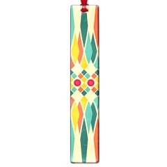 Festive Pattern Large Book Marks by linceazul