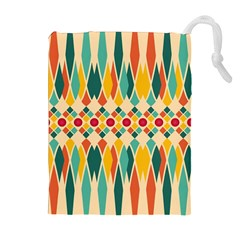 Festive Pattern Drawstring Pouches (extra Large) by linceazul