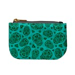 Sugar Skulls - Teal Coin Change Purse