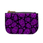 Sugar Skulls - Purple Coin Change Purse