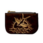 Sparrow Tattoo - Tan & Brown Coin Change Purse