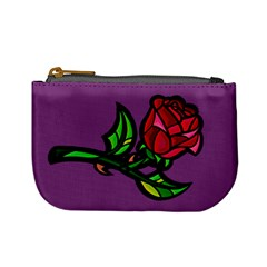 Leaning Rose Coin Change Purse by Ellador
