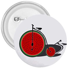Watermelon Bicycle  3  Buttons by Valentinaart