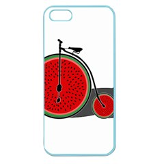 Watermelon Bicycle  Apple Seamless Iphone 5 Case (color) by Valentinaart