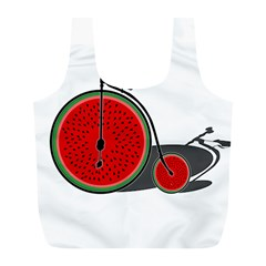 Watermelon Bicycle  Full Print Recycle Bags (l)  by Valentinaart