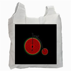 Watermelon Bicycle  Recycle Bag (two Side)  by Valentinaart