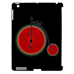 Watermelon Bicycle  Apple Ipad 3/4 Hardshell Case (compatible With Smart Cover) by Valentinaart