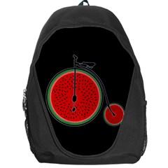 Watermelon Bicycle  Backpack Bag by Valentinaart