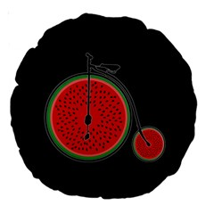 Watermelon Bicycle  Large 18  Premium Round Cushions by Valentinaart