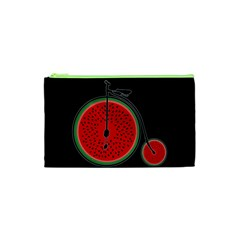 Watermelon Bicycle  Cosmetic Bag (xs) by Valentinaart