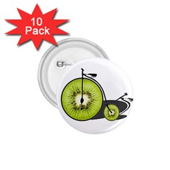 Kiwi Bicycle  1 75  Buttons (10 Pack) by Valentinaart