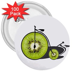 Kiwi Bicycle  3  Buttons (100 Pack)  by Valentinaart