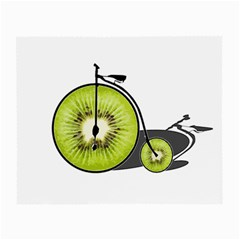 Kiwi Bicycle  Small Glasses Cloth by Valentinaart