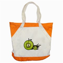 Kiwi Bicycle  Accent Tote Bag by Valentinaart