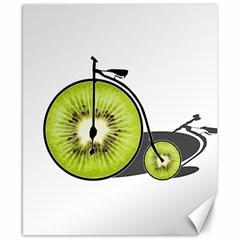Kiwi Bicycle  Canvas 8  X 10  by Valentinaart