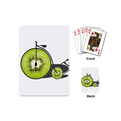 Kiwi Bicycle  Playing Cards (mini)  by Valentinaart