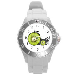 Kiwi Bicycle  Round Plastic Sport Watch (l) by Valentinaart