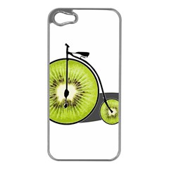 Kiwi Bicycle  Apple Iphone 5 Case (silver) by Valentinaart