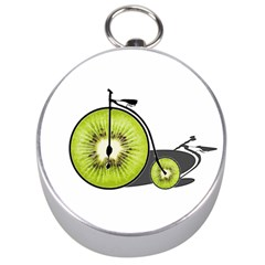 Kiwi Bicycle  Silver Compasses by Valentinaart
