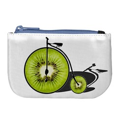 Kiwi Bicycle  Large Coin Purse by Valentinaart