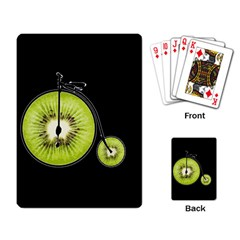 Kiwi Bicycle  Playing Card by Valentinaart