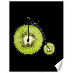 Kiwi Bicycle  Canvas 18  X 24   by Valentinaart