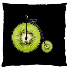 Kiwi Bicycle  Large Cushion Case (one Side) by Valentinaart