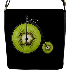 Kiwi Bicycle  Flap Messenger Bag (s) by Valentinaart
