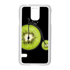Kiwi Bicycle  Samsung Galaxy S5 Case (white) by Valentinaart