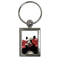 Boxing Panda  Key Chains (rectangle)  by Valentinaart