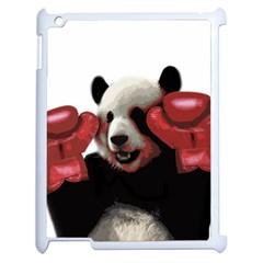 Boxing Panda  Apple Ipad 2 Case (white) by Valentinaart