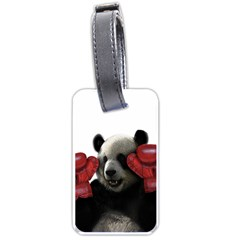 Boxing Panda  Luggage Tags (two Sides) by Valentinaart
