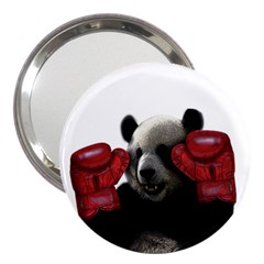 Boxing Panda  3  Handbag Mirrors by Valentinaart