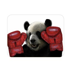 Boxing Panda  Double Sided Flano Blanket (mini)  by Valentinaart