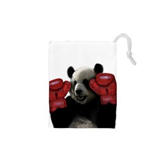 Boxing Panda  Drawstring Pouches (xs)  by Valentinaart