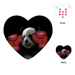 Boxing Panda  Playing Cards (heart)  by Valentinaart