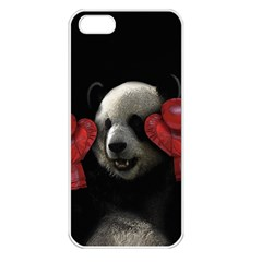 Boxing Panda  Apple Iphone 5 Seamless Case (white) by Valentinaart