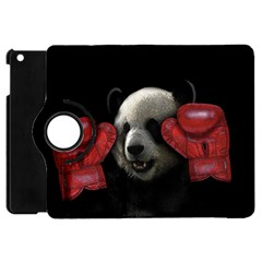 Boxing Panda  Apple Ipad Mini Flip 360 Case by Valentinaart